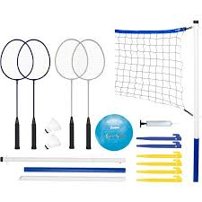 Franklin Sports Recreational Badminton and Volleyball Combo
