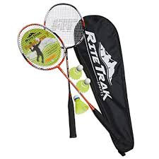 RiteTrak Sports FiberFlash 7 Badminton Racket Set